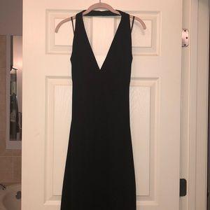 🔥MAKE OFFER🔥 Black Hi- Low fishtail maxi dress